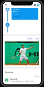 Student profile displayed on smartphone
