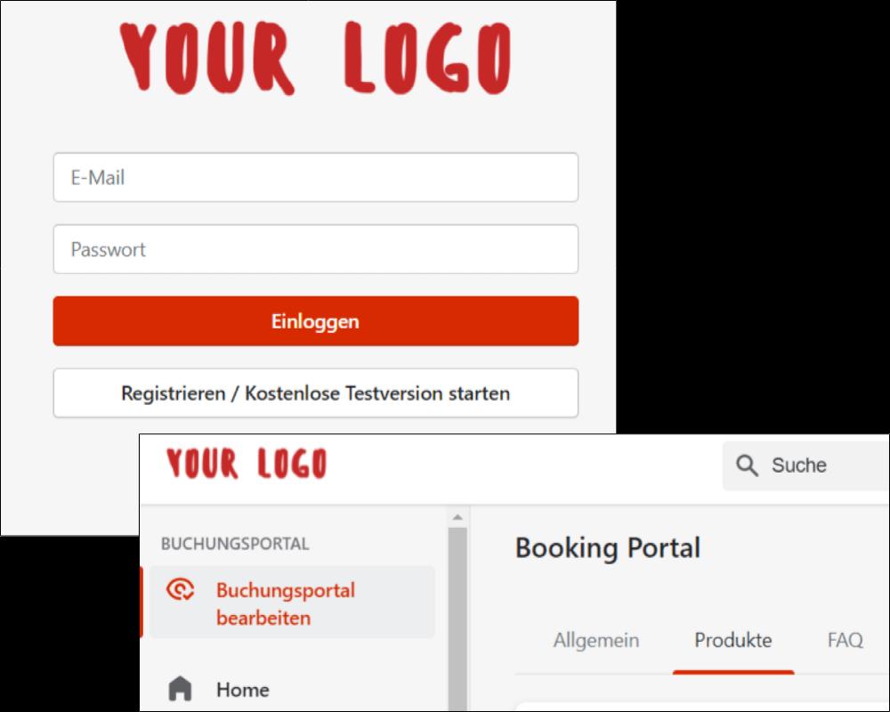 eigenes Logo auf der Login-Seite und der Benutzeroberfläche von Planubo